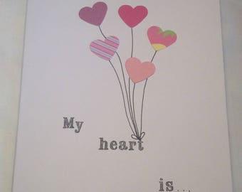Heart Balloon Valentines Card