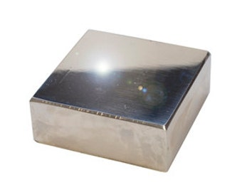 Highly Polished Solid Steel Bench Block  2.5 Inches