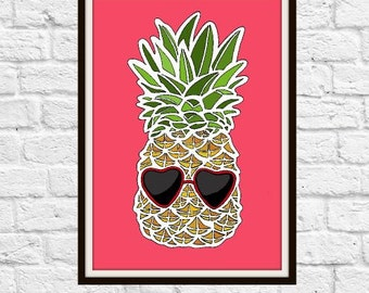 Pineapple Summer Digital Print