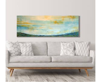 Horizontal Wall Art, Soothing Landscape, Hills Art, Hills And Valley, Very  Large