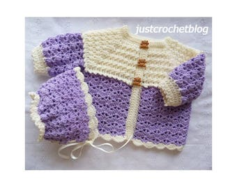 Crochet Sweet Two Piece Baby Crochet Pattern (DOWNLOAD) 155BFJC