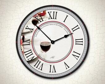 Large Wall Clock. Wine Clock. Modern Clock. Winery Clock. Kitchen Wall Decor. Living Room Decor. Large Wall Clock. Ready to Ship. 18in