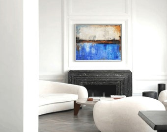 abstract Painting nice  large abstract painting  textured oil painting   by Jolina Anthony