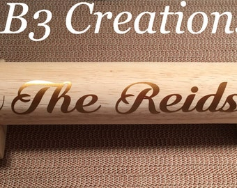 Personalized Rolling Pin, Wedding Gift, Kitchen Gift, Christmas Gift,Custom Rolling Pin, Wooden Rolling Pin, Gift for Mom, Bridal Shower