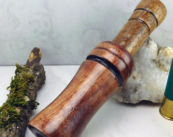 Short Reed Speckled Belly Goose Call in English Walnut   #273A