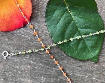 Bohemian stone chain bracelet