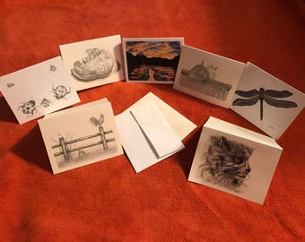 """4""""x6"""" blank note cards with envelopes"""
