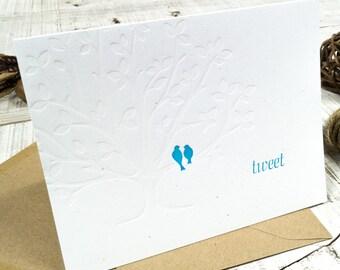 Tweet Letterpress Card