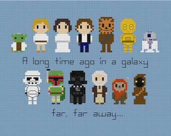 Star Wars Set w/Quote Cross Stitch Pattern