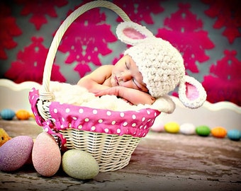 Newborn Baby Girl Photo Prop Lamb Hat