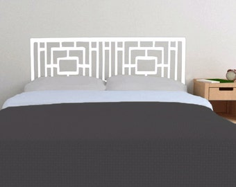 Rough Geometry Headboard decal  | Vinyl wall sticker decal | Geometric Pattern | FREE SHIPPING