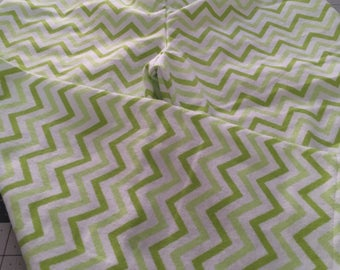CHILD PJ PANTS sIZE 4 Or 5    Green and White Chevrons