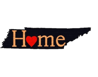 Tennessee Embroidery Design, Tennessee Home Embroidery Design, I love Tennessee pattern, travel machine embroidery design