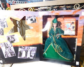 Scarlet O Hara Barbie Doll in Green Dress, Gone With The Wind Barbie Doll, Hollywood legends collections, Vintage Barbie Doll,