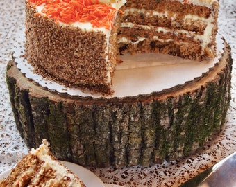 Rustic CAKE STAND - Large Wood Slice - Natural Wood Slice - Tree Cake Stand - Perfect for Country Weddings - Wild Thing Cake Stand