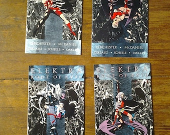 Elektra: The Root of Evil; Vol 1, 1 through 4 Modern Age Comic Book Lot (Full Limited Series).  NM- (9.2). 1995.  Marvel Comics