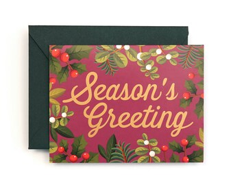 Season's Greeting Card for Holidays