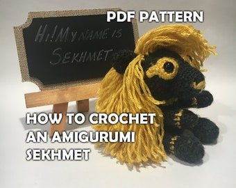How to Crochet Amigurumi Sekhmet - Crochet Lion Pattern - Crochet Ancient Egyptian God Stuffed Animal - DIY Crafts - Amigurumi Lion Pattern