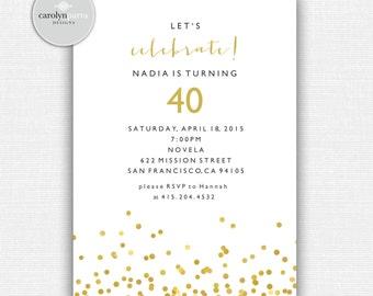 Confetti Celebrate Invitation