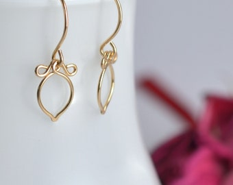 Andy - 14k Gold Filled Earrings | Delicate Gold Dangles | Lightweight Earrings