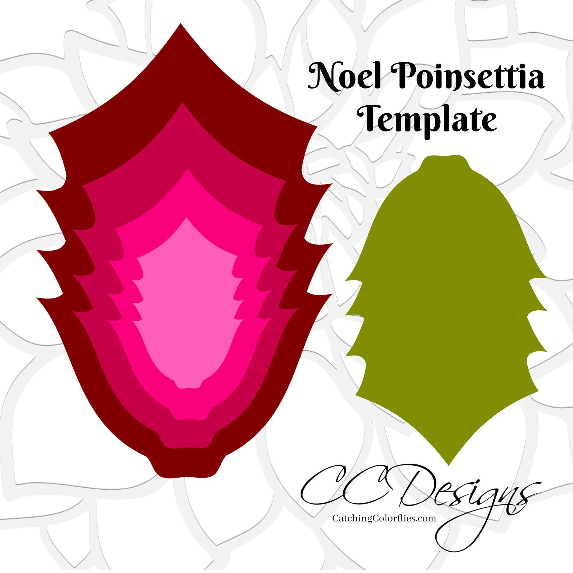 Template For Poinsettia Flower Binder Pedigreeadoptame Co