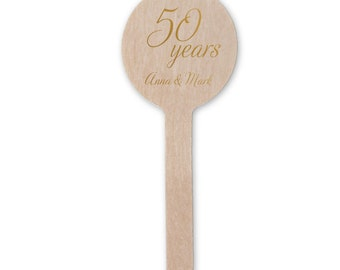 50th Anniversary Stir Sticks