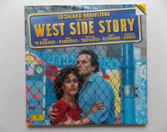 N/Mint Condition! West Side Story - Leonard Bernstein - Jose Carreras / Kiri Te Kanawa - Double LP -Vinyl Record Album - Classical Opera