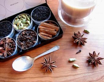 DIY-Chai-Tee-Set mit Rezept - set 6 - ein tolles Geschenk für Ihre Lieblings-Tee-Liebhaber.