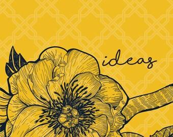 Ideas: Regular Yellow Notebook
