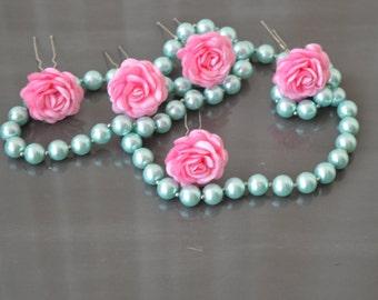 SET 20 Pins Bridal hair, daisy flower hair clips, bridal headdress, Made Bridal hair accessories, wedding accessories, fascinator hair.