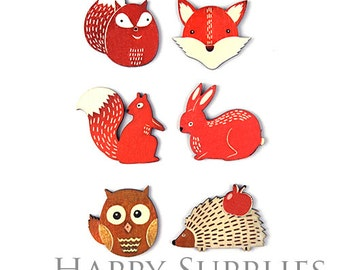 4Pcs Handmade Red Fox Animals Charms / Pendants (CW030)