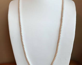 Petit Pearlette Opera 100 / White Pearl Long Necklace