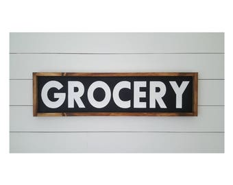 12x48Grocery Wood SignKitchen SignOver The Door SignPantry Sign