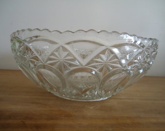 Antique french handcut cristal bowl