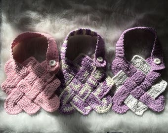 The Sailors Knot Knooked/ Crochet Baby Bibs