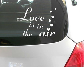 FUN STICKERS, love is in the air, car laptop decals