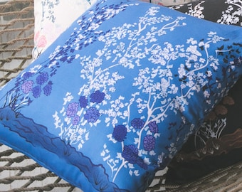 Blue Chinoiserie Throw Pillow
