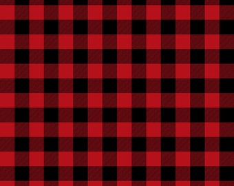SALE Christmas Delivery Plaid Red - Riley Blake Designs - Red and Black - Quilting Cotton Fabric - choose your cut