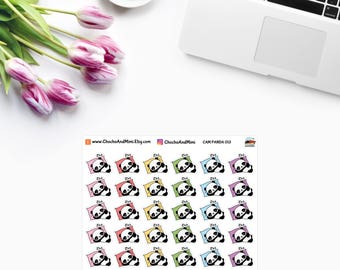 Amanda The Panda ~ NAP Time Planner Stickers CAM PANDA 013