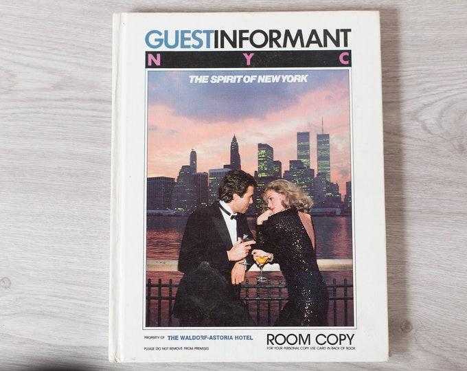 Vintage NYC Tourist Book - Waldorf-Astoria Hotel Guestbook = New York City Tourism