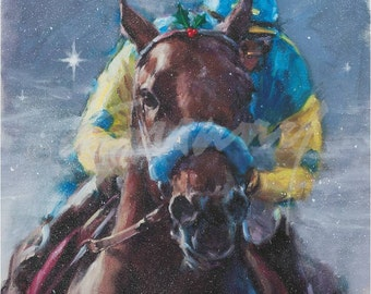 Christmas Card of American Pharoah by Celeste Susany