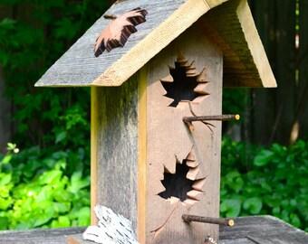 Barnwood Birdhouses, Rustic Birdhouse, Unique Bird House, Cedar Bird Home