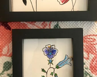 Hand Drawn Desert Wildflower Art