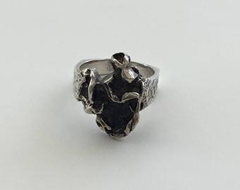 Silver Brutalist Ring