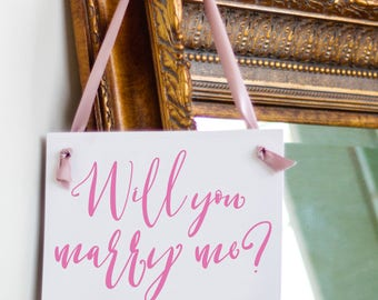 Will You Marry Me? Proposal Sign | Engagement Banner Handmade in USA | Creative Ways to Propose to Girlfriend | 1652 BW