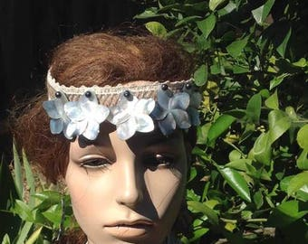 Flower Shell Headband/Headpiece. Perfect For All Ages. Wedding. Luau, Soloist, Bridesmaids, Or Any Polynesian Event.