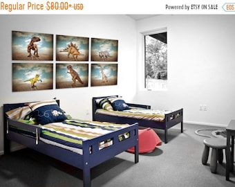 FLASH SALE til MIDNIGHT Set of 6 Dinosaur Prints, Boys Room Decor, Dinosaur Art, Dinosaur photos, Boys Room Decor