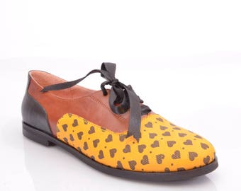 ateliermc.de no. 50305 MINUSH YELLOW OXFORD Designer Sneaker Dance Party