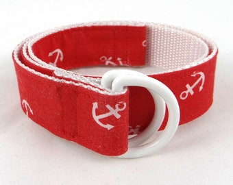 Child's d-ring belt, anchor patterns for young adventurers