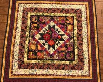 Purple Majesty Floral Quilt